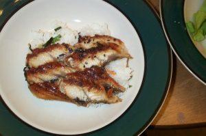 Unagi : l'anguille grillée